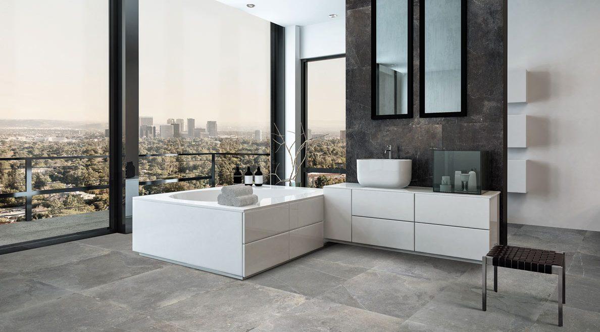 meuble salle de bain marmorini